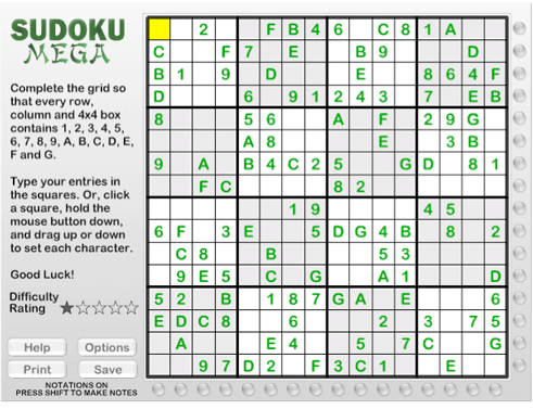 photograph regarding Mega Sudoku Printable known as Andrews McMeel Syndication - Dwelling
