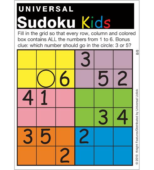 photograph regarding Kids Sudoku Printable named basic printable sudoku -