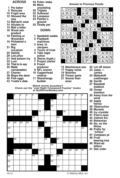 printable crossword puzzle daily printable crossword daily printable ...